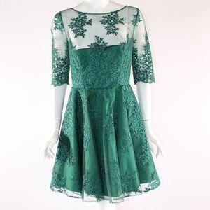 Monique Lhuillier Size 10 Green Dress